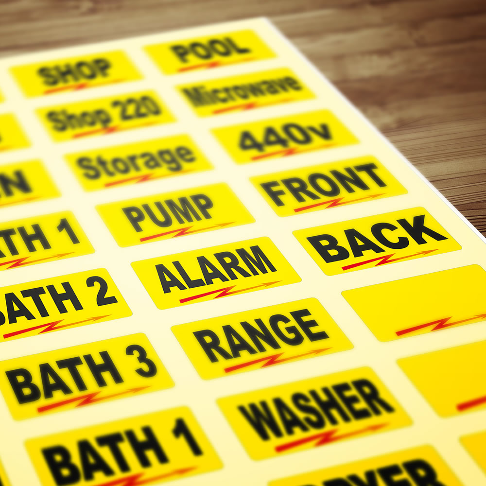 Buy Universal Circuit Breaker Decals For Box Switches Identification Labels Adhesive Toolbox
