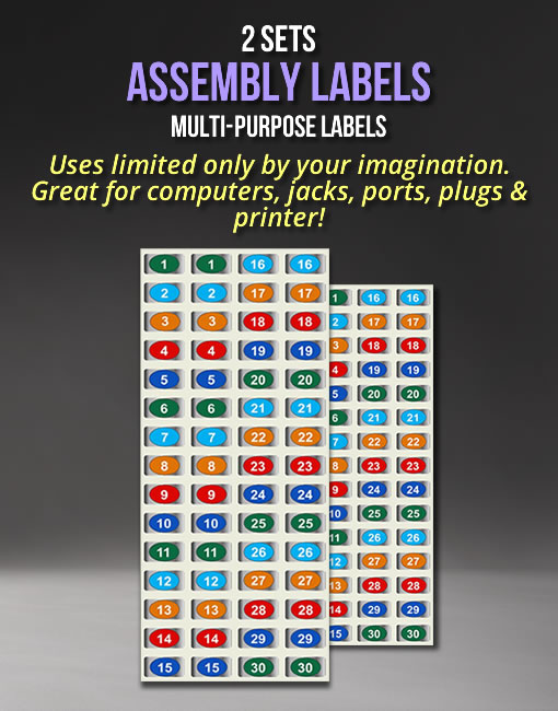 Chrome Socket Labels