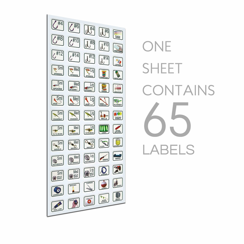 tackle box labels  image edition