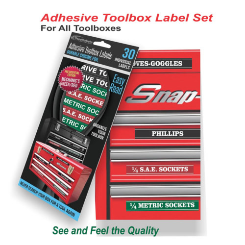 Adhesive Toolbox Labels